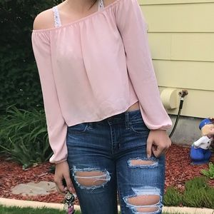 Forever 21 Off The Shoulder Long Sleeve